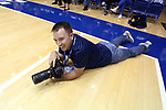 DURHAM, NC - NOVEMBER 05: Duke Athletics photographer Reagan Lunn. The Duke University Blue Devils hosted the University of Alaska Anchorage Seawolves on November 5, 2017 at Cameron Indoor Stadium in Durham, NC in a Division I women's college basketball preseason exhibition game. Duke won the game 87-56.