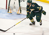 Rob Hamilton (UVM - 5) - The visiting University of Vermont Catamounts tied the Boston College Eagles 2-2 on Saturday, February 18, 2017, Boston College's senior night at Kelley Rink in Conte Forum in Chestnut Hill, Massachusetts.Vermont and BC tied 2-2 on Saturday, February 18, 2017, Boston College's senior night at Kelley Rink in Conte Forum in Chestnut Hill, Massachusetts.