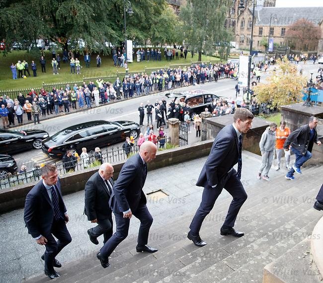 25.09.2018 Funeral service for Fernando Ricksen: Steven Gerrard, Gary McAllister and Allan McGregor