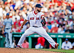 22 June 2019: Boston Red Sox pitcher Marcus Walden on the mound in the 7th inning against the Toronto Blue Jays at Fenway :Park in Boston, MA. The Blue Jays rallied to defeat the Red Sox 8-7 in the 2nd game of their 3-game series. Mandatory Credit: Ed Wolfstein Photo *** RAW (NEF) Image File Available ***
