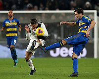 Calcio, Serie A: Juventus - Parma, Turin, Allianz Stadium, January 19, 2020.<br /> Juventus' Cristiano Ronaldo (l) in action with Parma's Matteo Darmian (r) during the Italian Serie A football match between Juventus and Parma at the Allianz stadium in Turin, January 19, 2020.<br /> UPDATE IMAGES PRESS/Isabella Bonotto