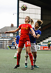 Liverpool Ladies 2 Everton Ladies 1, 19/03/2017. Select Security Stadium, SSE FA Cup Fifth Round. Liverpool's Mollie Green shields the ball from Everton's Gabrielle George during the game between Liverpool Ladies v Everton Ladies at The Select Security Stadium, Widnes, in the Women's SSE FA Cup Fifth Round. Photo by Paul Thompson.