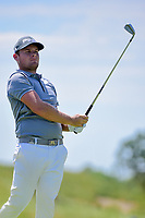 Tyrell Hatton (ENG) watches his tee shot on 13 during Friday's round 2 of the 117th U.S. Open, at Erin Hills, Erin, Wisconsin. 6/16/2017.<br /> Picture: Golffile | Ken Murray<br /> <br /> <br /> All photo usage must carry mandatory copyright credit (&copy; Golffile | Ken Murray)