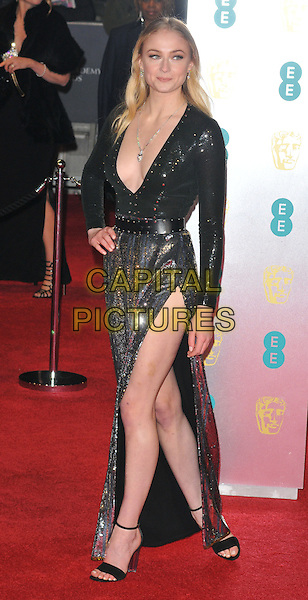 Sophie Turner at the EE British Academy Film Awards (BAFTAs) 2017, Royal Albert Hall, Kensington Gore, London, England, UK, on Sunday 12 February 2017.<br /> CAP/CAN<br /> &copy;CAN/Capital Pictures