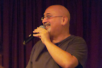 Man singing at Omega Institute workshop, Circlesongs, Rhinebeck NY