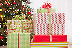 USA, Illinois, Metamora,  Close up of Christmas presents