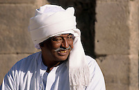 Portrait of a man on the island of Philae on the Nile river, Egypt.