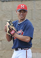 9 April 2008: RHP Sung Ki Jung (31) of the Mississippi Braves, Class AA affiliate of the Atlanta Braves, in the season's home opener against the Mobile BayBears at Trustmark Park in Pearl, Miss. Photo by:  Tom Priddy/Four Seam Images