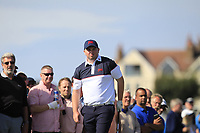 Caolan Rafferty (GB&I) on the 2nd tee during Day 2 Singles at the Walker Cup, Royal Liverpool Golf CLub, Hoylake, Cheshire, England. 08/09/2019.<br /> Picture Thos Caffrey / Golffile.ie<br /> <br /> All photo usage must carry mandatory copyright credit (© Golffile | Thos Caffrey)