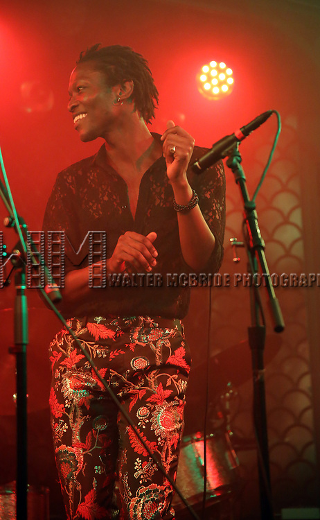 Mwenso and the Shakes performs at the New York Hot Jazz Festival own September 30, 2018 at The McKittrick Hotel in New York City.