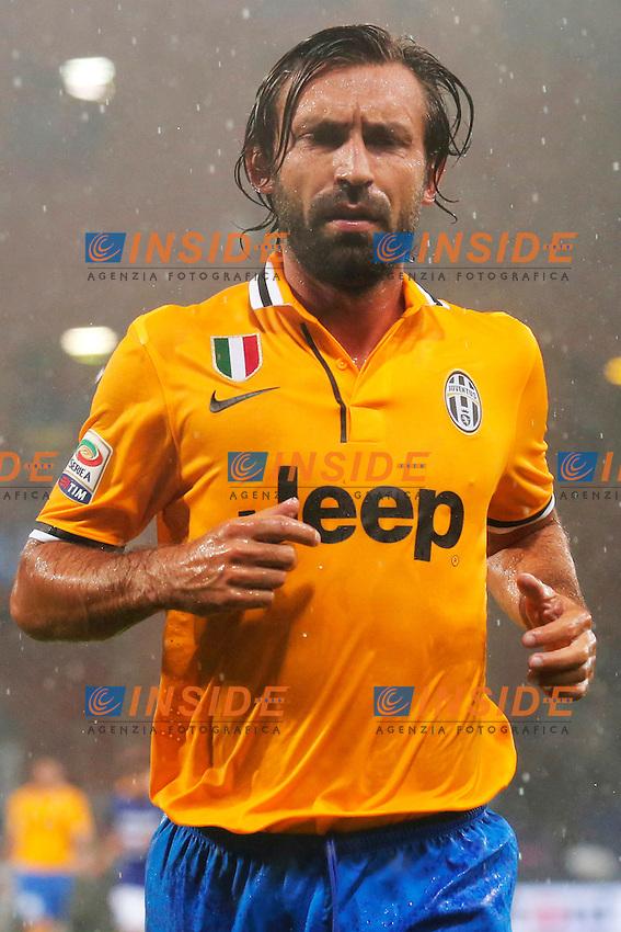 Andrea Pirlo Juventus,<br /> Genova 24/8/2013<br /> Stadio &quot;Luigi Ferraris&quot; <br /> Football Calcio 2013/2014 Serie A <br /> Sampdoria - Juventus <br /> Foto Marco Bertorello Insidefoto