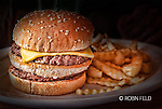 Cheeseburger and fries, a popular meal at Hasty Tasty, Dayton OHio