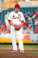 Eric Fornataro (51) of the Springfield Cardinals stands on the mound during a game against the Arkansas Travelers at Hammons Field on May 5, 2012 in Springfield, Missouri. (David Welker/Four Seam Images)