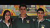 Michelle Reynolds, Chris Vietri and Bryan Bono, right, of Holy Trinity High School pose for a portrait after the Nassau-Suffolk CHSAA boys' and girls' bowling individual championships at AMF Babylon Lanes on Thursday, Feb. 11, 2016. Vietri won the league title with a 751 three game series and had a high game of 289 while Reynolds and Bono posted high game scored of 190 and 279 respectively.