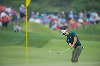 Adam Scott chips back onto the 7th green during the opening round of the US PGA Championship at Valhalla (Photo: Anthony Powter) Picture: Anthony Powter / www.golffile.ie