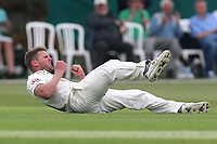 Stuart Meaker of Surrey claims the wicket of Ravi Bopara during Surrey CCC vs Essex CCC, Specsavers County Championship Division 1 Cricket at Guildford CC, The Sports Ground on 10th June 2017