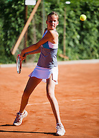 05-08-13, Netherlands, Dordrecht,  TV Desh, Tennis, NJK, National Junior Tennis Championships, Isabelle Haverlag  Danielle Rieff<br /> <br /> <br /> Photo: Henk Koster