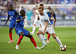 France's N'Golo Kante tussles with England's Harry Kane during the Friendly match at Stade De France Stadium, Paris Picture date 13th June 2017. Picture credit should read: David Klein/Sportimage
