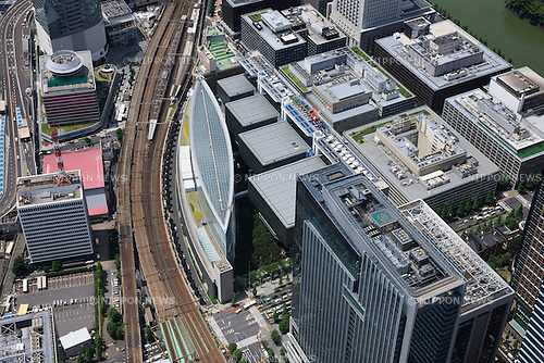 Tokyo International Forum: Tokyo, Japan: Aerial view of proposed venue for the 2020 Summer Olympic Games. (Photo by AFLO)