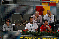 09.05.2012. Madrid, Spain, ATP Mens Madrid Open Tennis Tournament. Match played between Roger Federer (SUI) vs Milos Raonic (CAN) Picture show during match.