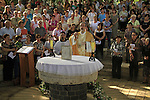 Feast of the Manifestation of the Lord to Peter and the Apostels, presided by Fr. Perbattista Pizzaballa, Custos of the Holy Land at the Church of St. Peter's Primacy in Tabgha by the Sea of Galilee