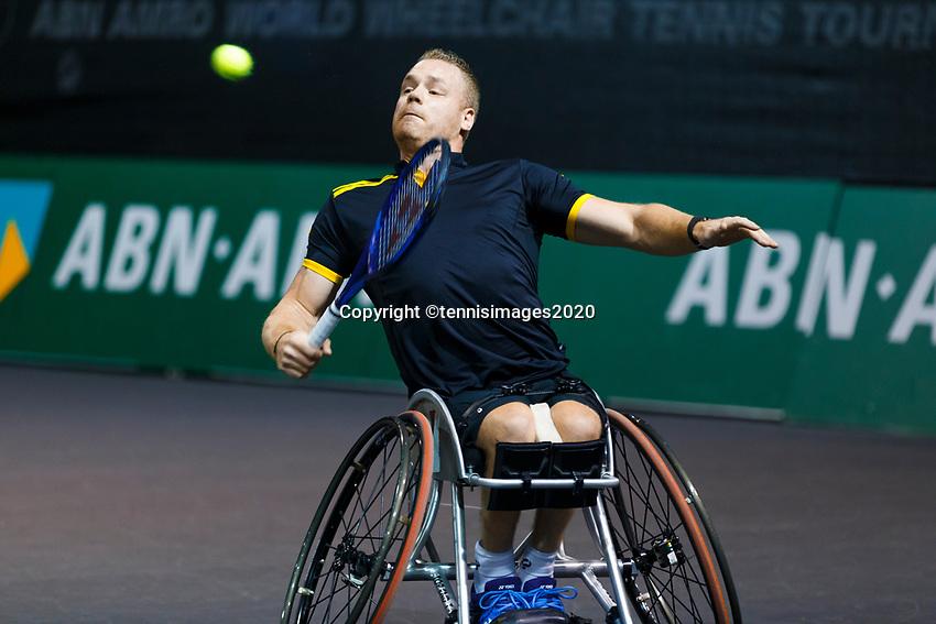 Rotterdam, The Netherlands, 9 Februari 2020, ABNAMRO World Tennis Tournament, Ahoy, Wheelchair: Maikel Scheffers (NED).<br /> Photo: www.tennisimages.com