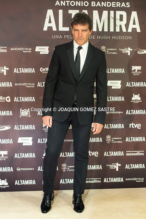 1st April 2016 Santander (Spain) <br /> The actor Antonio Banderas at the premiere in Santander  the film  &quot;Altamira&quot;  (director Hugh Hudson)