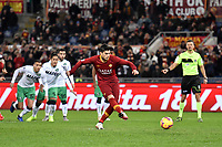 Diego Perotti of AS Roma scores a goal on penalty during the Serie A 2018/2019 football match between AS Roma and Sassuolo at stadio Olimpico, Roma, December, 26, 2018 <br />  Foto Andrea Staccioli / Insidefoto