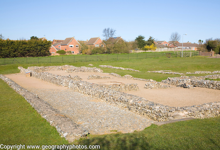 Roman fort at Caister, Norfolk, England