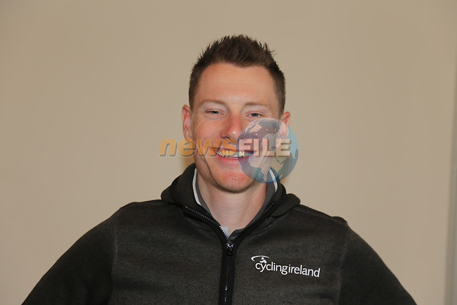 Sam Bennett (IRL) at the Cycling Ireland press conference during the Men U23 Road Race of the UCI World Championships 2019 running 186.9km from Doncaster to Harrogate, England. 27th September 2019.<br /> Picture: Eoin Clarke | Cyclefile<br /> <br /> All photos usage must carry mandatory copyright credit (© Cyclefile | Eoin Clarke)