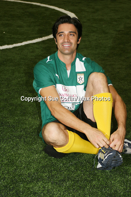 Gilles Marini of Dancing with the Stars played on the green team which won event at the Celebrity soccer game to benefit Hollywood United for Haiti at 1st Setanta Cup Soccer Festival on April 11, 2009 at Chelsea Pers, NYC. (Photo  by Sue Cofln/Max Photos)