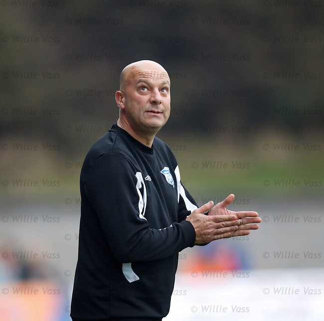 Peterhead boss Neale Cooper looks to the heavens