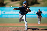 Asheville Tourists relief pitcher Justin Lawrence (27) in action against the Kannapolis Intimidators at Kannapolis Intimidators Stadium on May 7, 2017 in Kannapolis, North Carolina.  The Tourists defeated the Intimidators 4-1.  (Brian Westerholt/Four Seam Images)