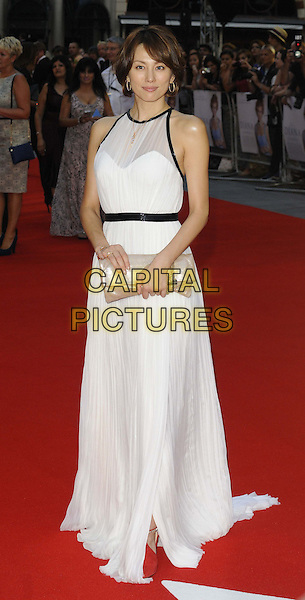 Ryoko Yonekura<br /> The World Premiere of 'Diana', Odeon Leicester Square, London, England.<br /> 5th September 2013<br /> film arrivals full length white sheer dress black trim train waistband beige clutch bag maxi sleeveless<br /> CAP/CAN<br /> &copy;Can Nguyen/Capital Pictures