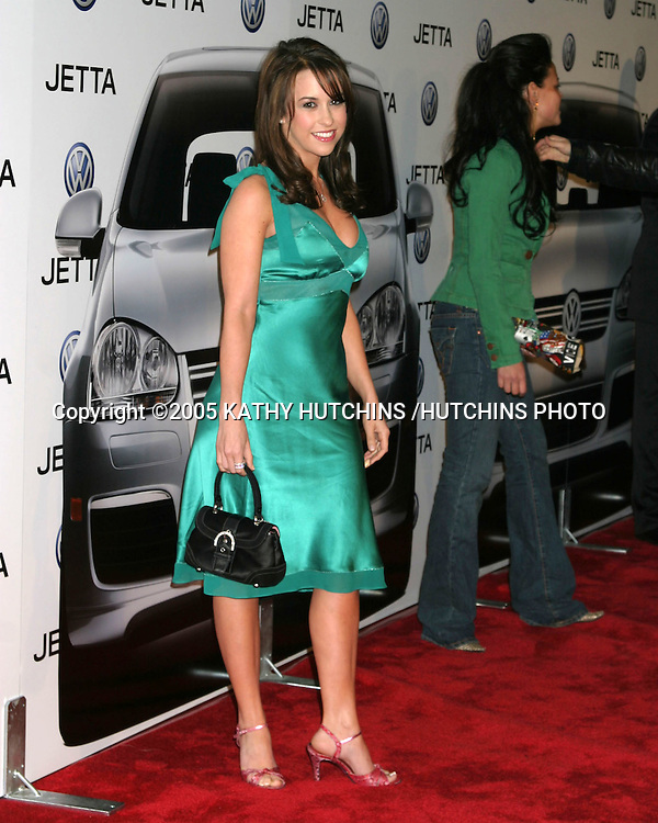 ©2005 KATHY HUTCHINS /HUTCHINS PHOTO.Premiere of the 2005 VOLKSWAGEN JETTA.THE LOT.LOS ANGELES, CA.JANUARY 5, 2005..LACEY CHABERT