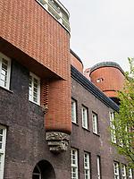 Museum Het Schip, Wohnblock Amsterdamer Schule, Oostzaanstraat 45, Amsterdam, Provinz Nordholland, Niederlande<br /> Museum Het Ship, block of flats, Amsterdam, Province North Holland, Netherlands