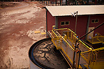 ITUMBIARA, BRAZIL - OCTOBER 16:<br /> Water waste which will be filtered and re-used for the plant's operations, near the city of Itumbiara, in Goias state, Brazil, on Wednesday, Oct. 16, 2013. Since the US recently passed a number of regulations and standards for cars and dropped tariffs that were in place for decades against Brazilian sugar, Brazilian ethanol is now flowing to the U.S., and the ethanol industry in the country is consolidating and ramping up for a new era.
