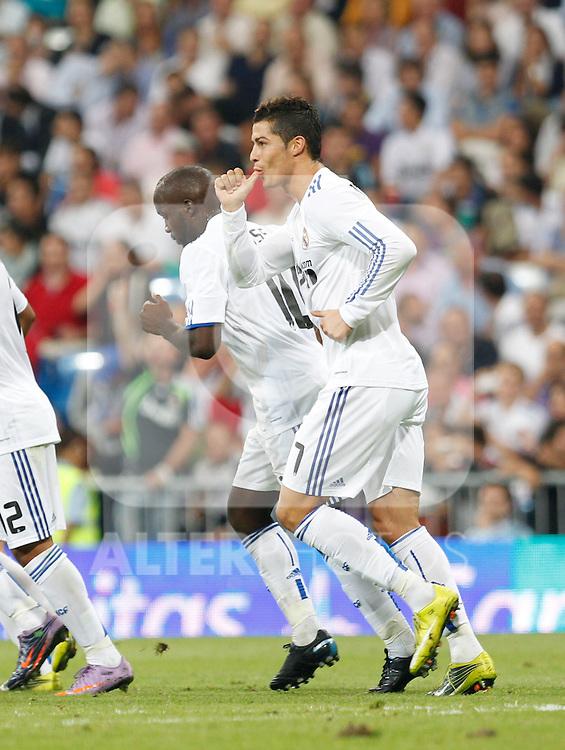 Madrid.- (21/09/10)Estadio Santiago Bernabeu..Campeonato Nacional de Liga..Real Madrid - Espanyol .Cristiano Ronaldo...©Alex Cid-Fuentes/AlfaquiFotografia