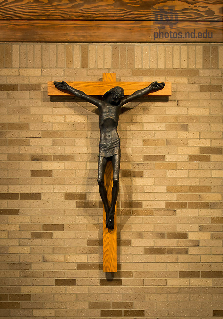 Apr. 11, 2012; Malloy Hall Chapel crucifix..Photo by Matt Cashore/University of Notre Dame