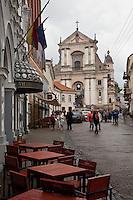 Street Scene in Vilnius,Lithuania