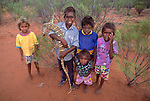 Aboriginal children of the Tjuwanpa Outstation, Australia