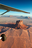 USA, Arizona, Utah, Monument Valley, Navajo Tribal Park, aerial view of the Mitchell Butte