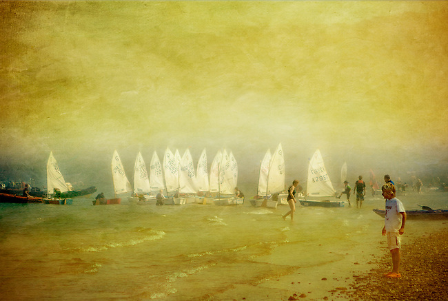 Sea Fog & Sailing Boats at Priory Bay