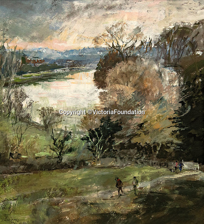 BNPS.co.uk (01202 558833)<br /> Pic: VictoriaFoundation/BNPS<br /> <br /> Jane Corsellis - Early Spring, Richmond Hill.<br /> <br /> The only view in England which is considered so beautiful it is protected by an Act of Parliament has been captured by various artists in a new book.<br /> <br /> The view from Richmond Hill in London would normally have been buried under urban sprawl as the capital has grown over the last hundred years, but thanks to the enlightened Act of 1902 this idyllic oasis still survives<br /> <br /> Under the Richmond, Ham and Petersham Open Spaces Act (1902), no construction was allowed which would impinge on the picturesque view from Richmond Hill in south-west London made famous by artist's such as JMW Turner in the previous century.<br /> <br /> Prominent in the panorama - perched on top of Richmond Hill - is the Grade II listed Star and Garter Building which until recently housed injured ex-servicemen but has now been converted into 84 apartments.<br /> <br /> Seventeen artists were commissioned for the project - which also included an exhibition - and they have created idyllic snapshots of the Star and Garter Building, Richmond Park and the river Thames from different vantage points.