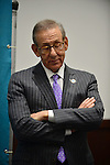 DAVIE, FL - JANUARY 28: Owner Stephen Ross  introduce The Miami Dolphins new general manager Dennis Hickey at a news conference at Miami Dolphins Davie training facility on January 28, 2014 in Davie, Florida. (Photo by Johnny Louis/jlnphotography.com)