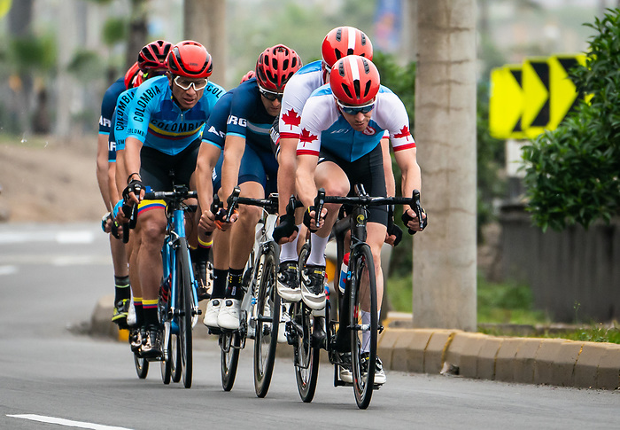 Lima, Peru -  1/September/2019 -   Lowell Taylor and Andrew Davidson compete in the mens cycling B road race at the Parapan Am Games in Lima, Peru. Photo: Dave Holland/Canadian Paralympic Committee.