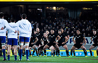 The All Blacks perform the haka before the Steinlager Series international rugby match between the New Zealand All Blacks and France at Eden Park in Auckland, New Zealand on Saturday, 9 June 2018. Photo: Dave Lintott / lintottphoto.co.nz