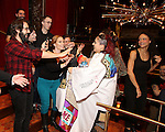 Katrina Yaukey and Josh Groban during the Broadway Opening Night Actors' Equity Gypsy Robe Ceremony honoring Katrina Yaukey  for  'Natasha, Pierre & The Great Comet Of 1812' at The Imperial Theatre on November 14, 2016 in New York City.