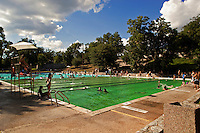 Deep Eddy Pool offers an Olympic size swimming pool for swimming laps in Austin, Texas, USA