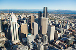 Aerial photo of Seattle's skyline